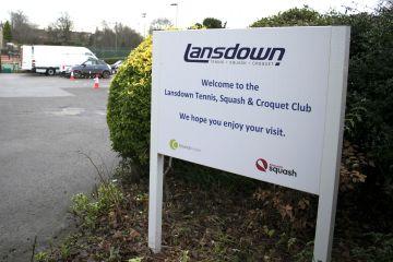 Case study- Lansdown tennis club sign