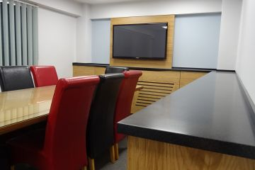 Media Wall and board room storage