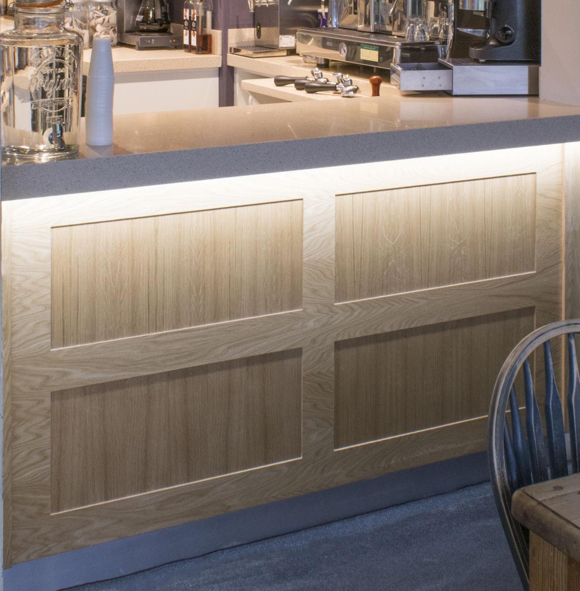 bar front wood