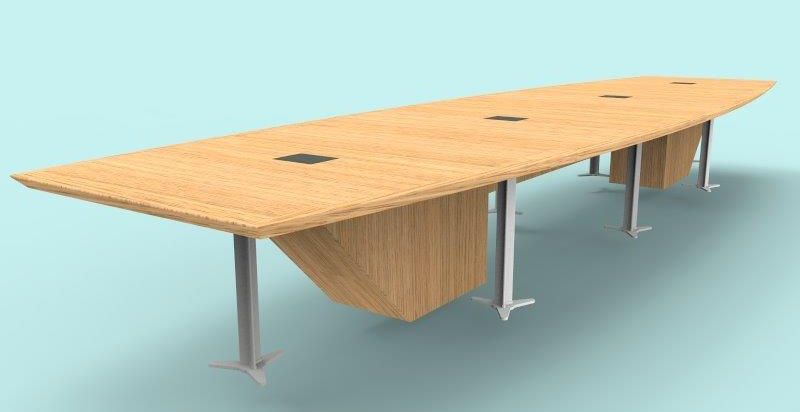 board room table design in 3D