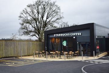 Starbucks interior manufactured joinery