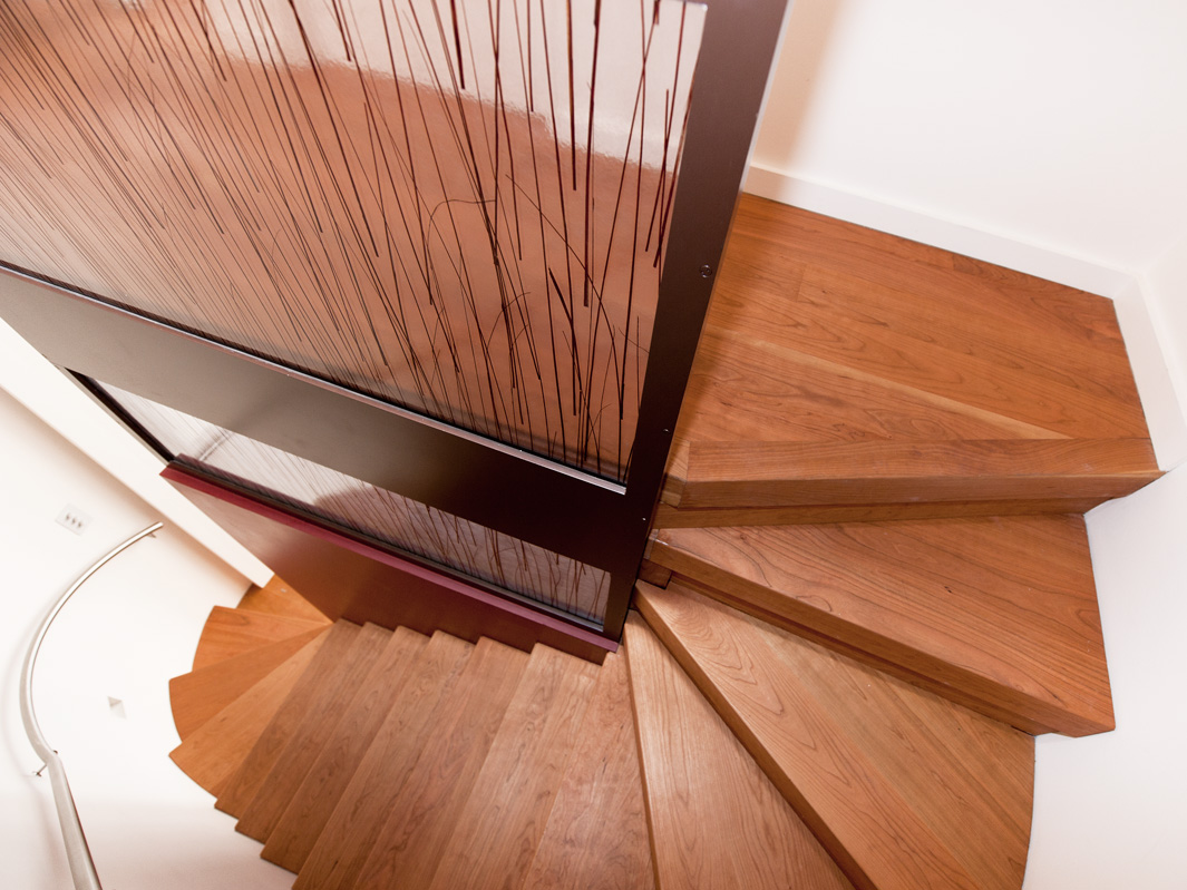 residential joinery spiral wooden staircase