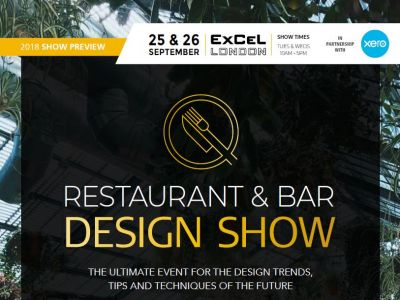 Restaurant & bar Design expo 2018 preview guide front cover