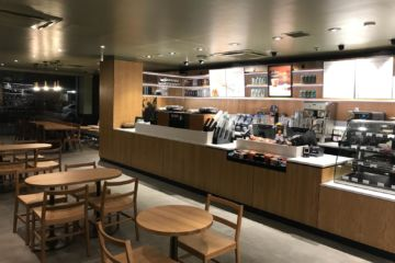 Starbucks coffee shop Whitechapel London George Thomas Joinery